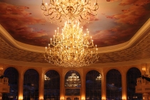 Chandeliers in the main dining hall.