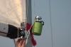Flashlight + Beer Koozie = Night Sailing