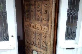 Facade Hung on Door