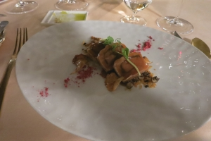 Fillet of Veal with Mushrooms, Summer Truffle and Potatoes