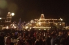 Crowd waiting for the Main Street Electrical Parade